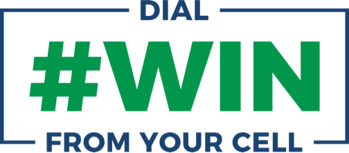 Logo for Dial #WIN from your cell